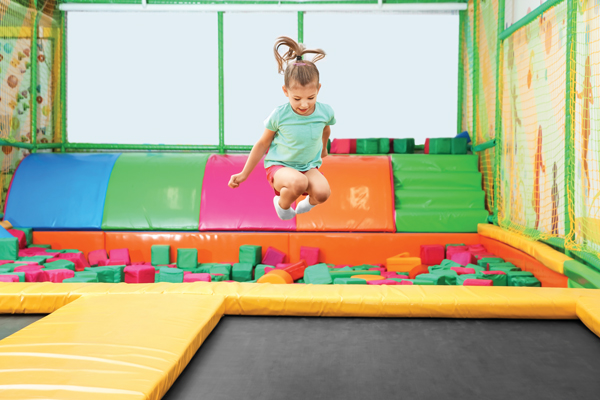child bouncing